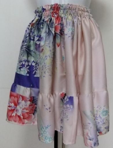 着物リメイク 正絹の訪問着で作ったミニスカート 1309