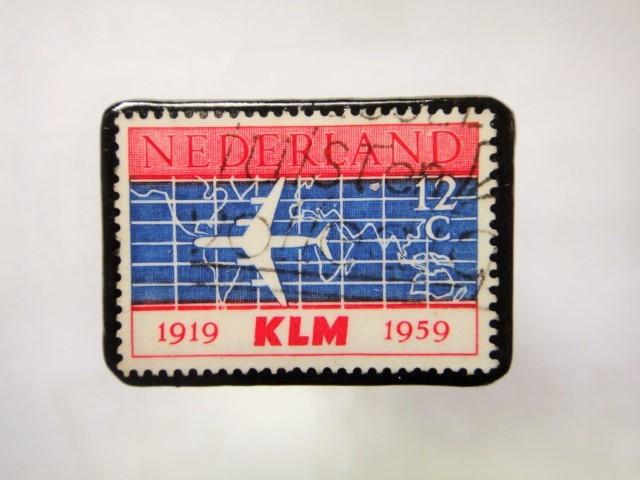 オランダ 切手ブローチ1036