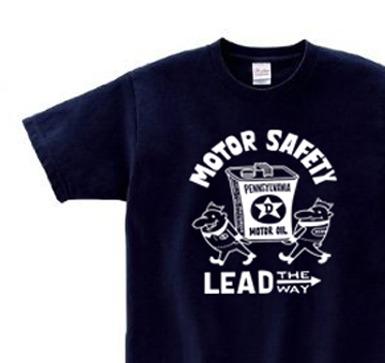 【再販】ビーンズマンとモーターオイル 片面 150.160.(女性M.L) S〜XL Tシャツ【受注生産品】
