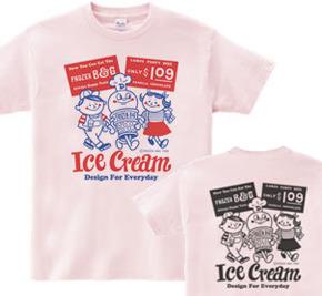 【再々販】アイスクリームBoy&Girl☆アメリカンレトロ 両面 WM〜WL?S〜XL Tシャツ【受注生産品】
