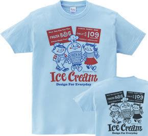 【再販】アイスクリームBoy&Girl☆アメリカンレトロ 両面 WS〜WM?S〜XL Tシャツ【受注生産品】