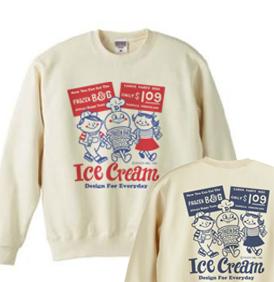 アイスクリームBoy&Girl☆アメリカンレトロ 両面 トレーナー【受注生産品】