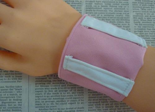腕時計バンド用汗とりアームハンカチ(ピンク・女性サイズ)