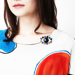 Medama Clip(L) -blue-orange-