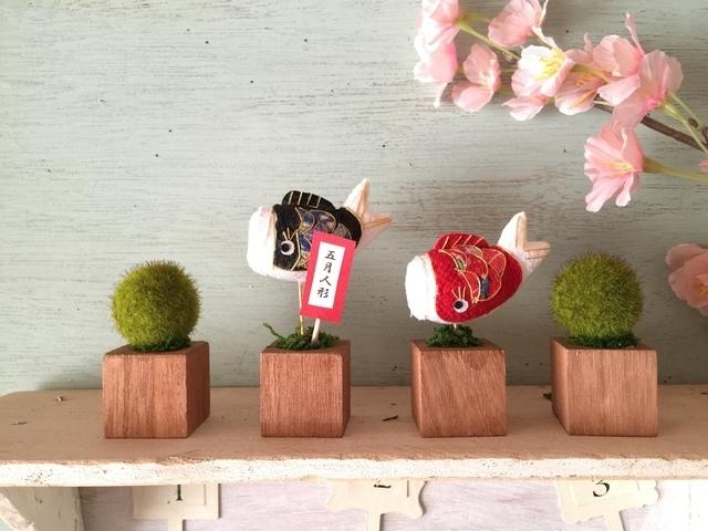 小さな植木鉢♪こどもの日 鯉のぼり