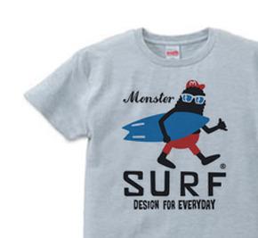 サーフ・モンスター Tシャツ XSサイズ【受注生産品】