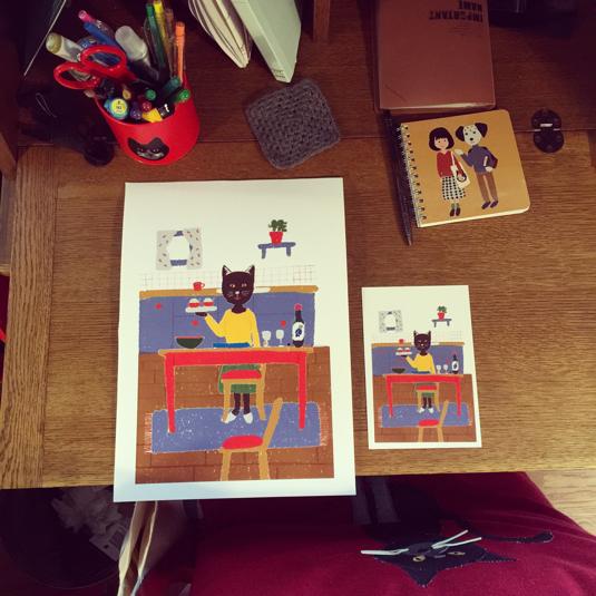 ポスターとポストカードセット(北欧雑貨ショップ店長のおうちパーティー)