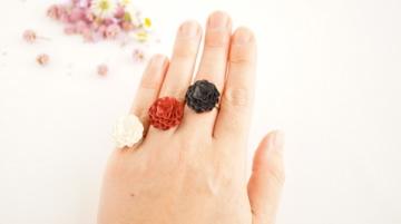 紙の花指輪「クラシカル」紙のリング
