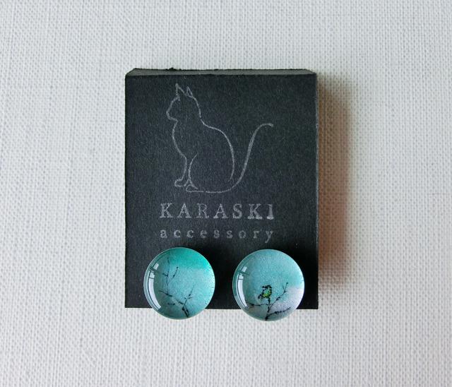 ちいさなイヤリング038/カワセミ