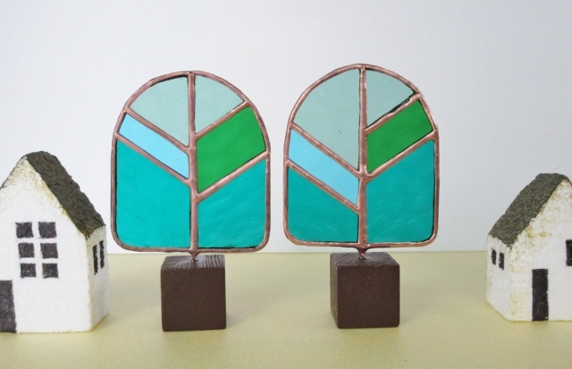 ステンドグラス「tree」のオブジェ SS