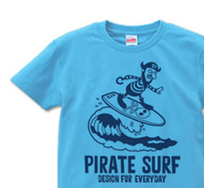 【再販】海賊〜SURF〜 S〜XL  Tシャツ【受注生産品】