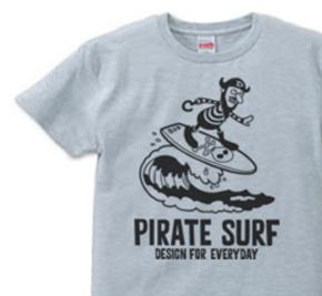 海賊〜SURF〜 XS(女性XS〜S)   Tシャツ【受注生産品】
