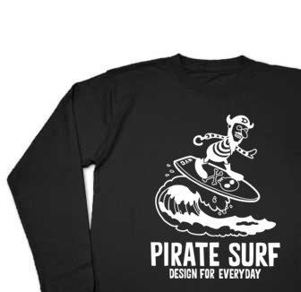 海賊〜SURF〜 長袖Tシャツ【受注生産品】
