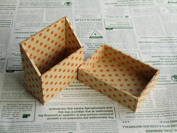 水玉の小箱セット(オレンジ)