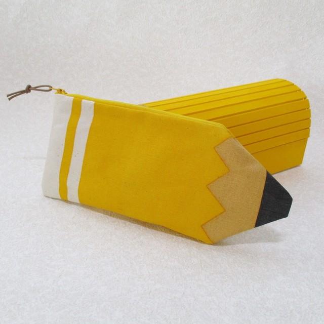 えんぴつペンケース yellow