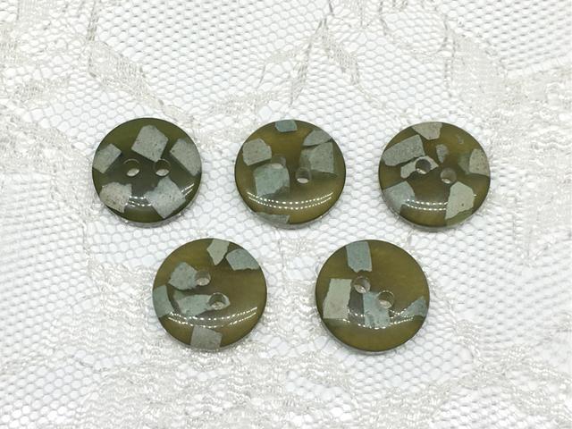 ボタン:平丸型(S)/グリーン/5コ入<54>
