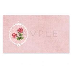 A40 〈アドレスシール〉オーバルフレームの薔薇《ピンク》☆ちょっと小さめ A4サイズ 1シート24面×2シート=48枚1セットです?
