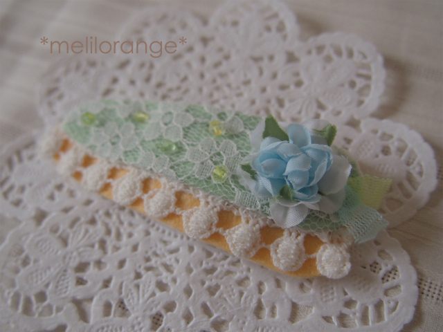 flower cake pin*お花ケーキのぱっちんピン LBL-r