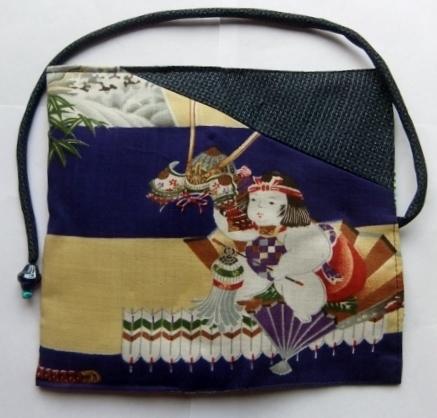 着物リメイク 男の子のお宮参り着で作った和風財布 1319\t