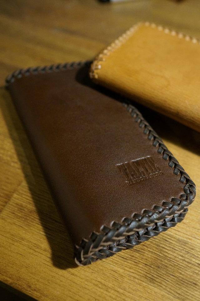 iPhone 6/S レザーケース(カバー)チョコブラウン・レース