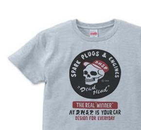スパークプラグ&骸骨(片面)前A柄 S〜XL  Tシャツ【受注生産品】