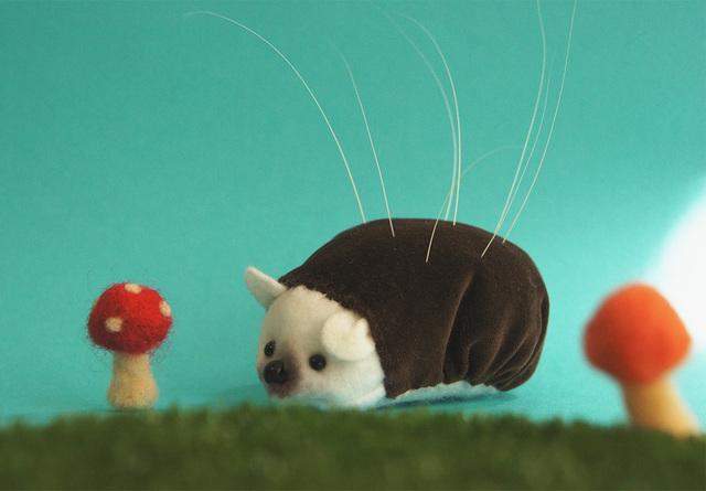 ハリネズミの猫ひげスタンド【受注生産】