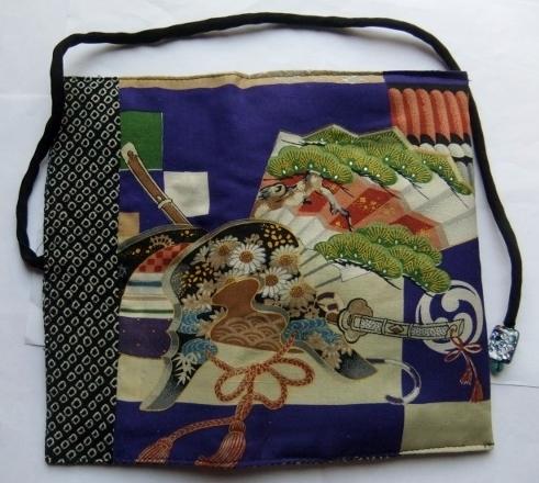 着物リメイク 男の子のお宮参り着で作った和風財布 1325