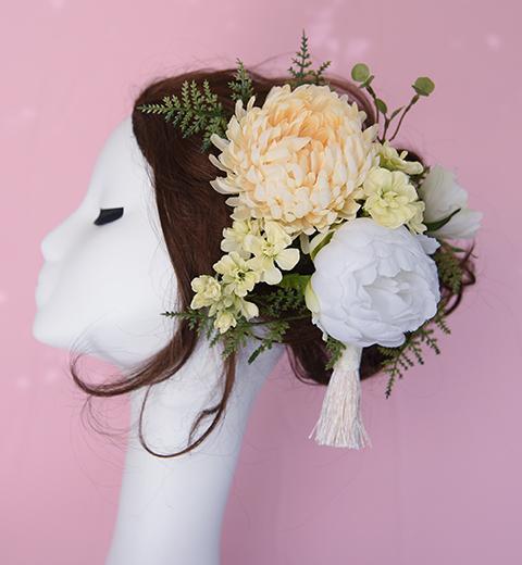 ふんわり和花の髪かざり