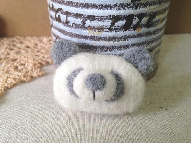羊毛フェルトブローチ(GRパンダさん)