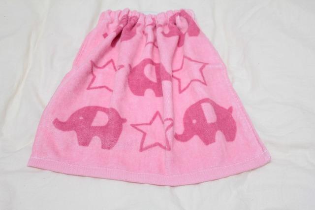 タオルエプロン 象と星(ピンク)