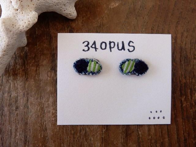 34opus小さな刺繍のピアス