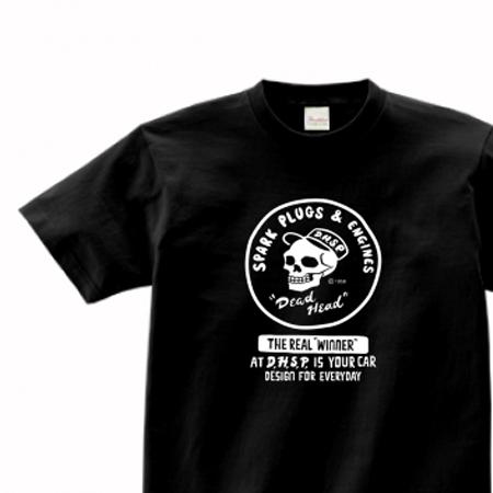 スパークプラグ&骸骨(片面)前A柄 150.160.(女性M.L) S〜XL Tシャツ【受注生産品】