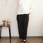 タイプライター tack×gather tapered pants _darknavy