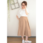 タイプライター tack×gather longskirt_beige