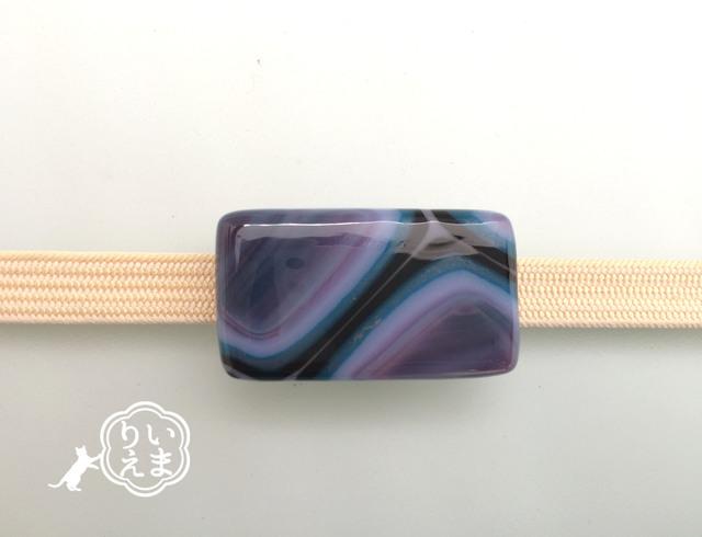 パターン 瑠璃紫 M1 #帯留め #帯 #着物 #和装