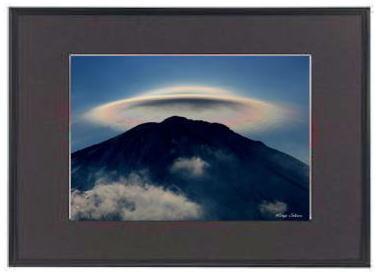 「富士山12004」 レインボーハット 額装 DNP アルミ額ギャラリー ブラック A3ノビ