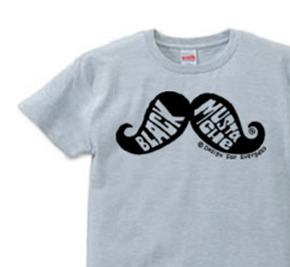口髭  Mustache Tシャツ  S〜XLサイズ【受注生産品】
