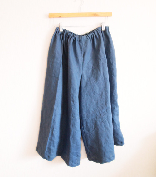 ����� ��Linen�� Long culotte���������antique bule����