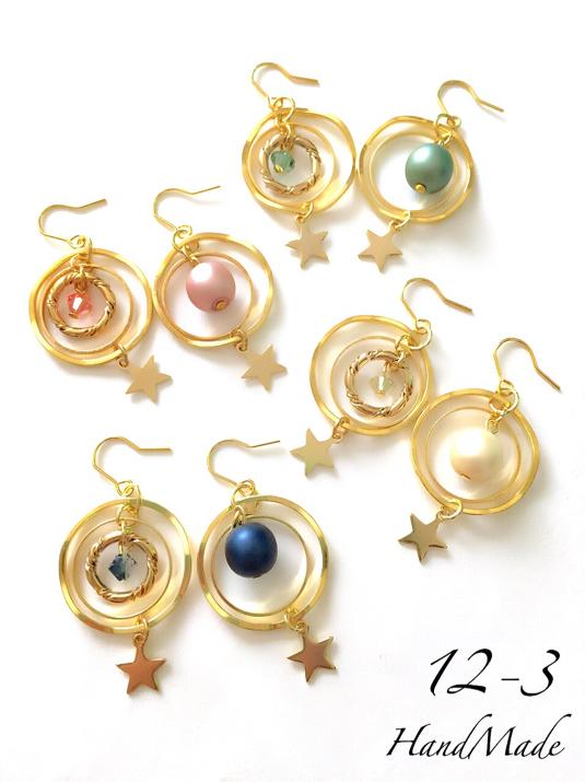 【受注販売】まる×リング pierce/earring
