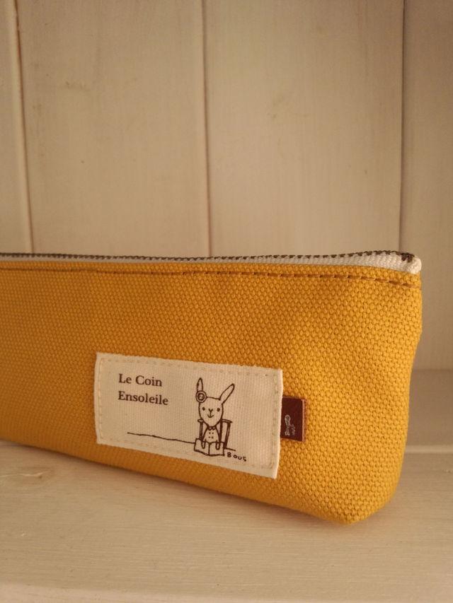 かぼちゃ色帆布のペンケース