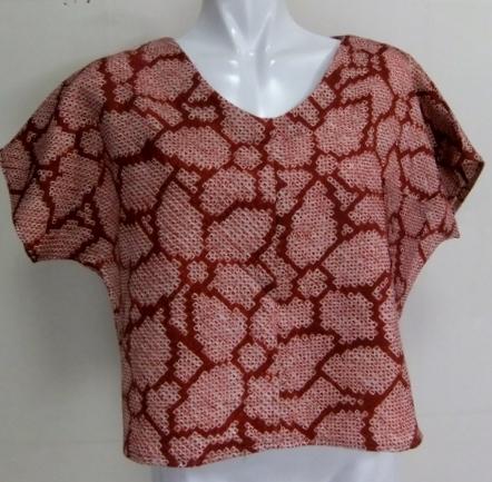 着物リメイク 絞りの羽織で作ったTシャツ 1335