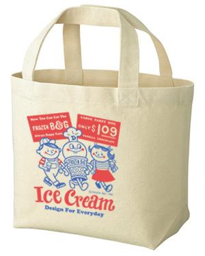 アイスクリームBoy&Girl☆アメリカンレトロ トートバック Sサイズ【受注生産品】