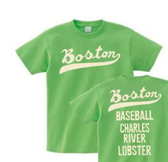 ボストン フォント【両面】150.160.(女性M.L) S〜XL Tシャツ【受注生産品】