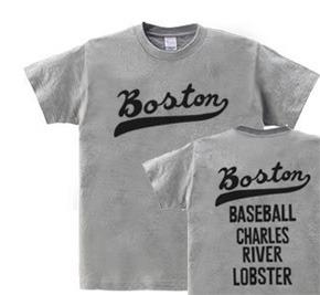 ボストン フォント【両面】 WM〜WL?S〜XL Tシャツ【受注生産品】