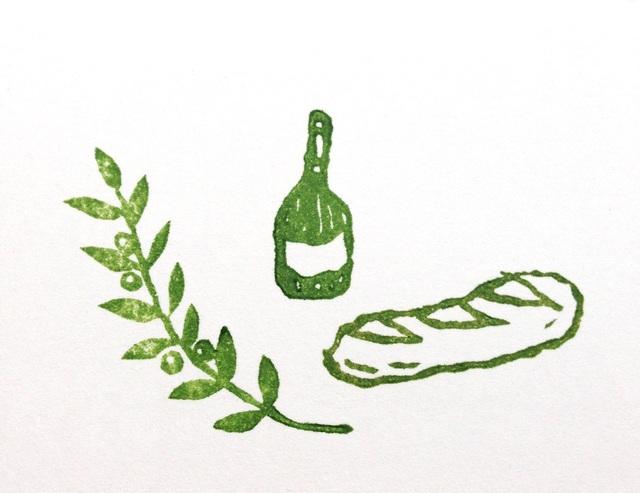 ワイン & オリーブのはんこ。