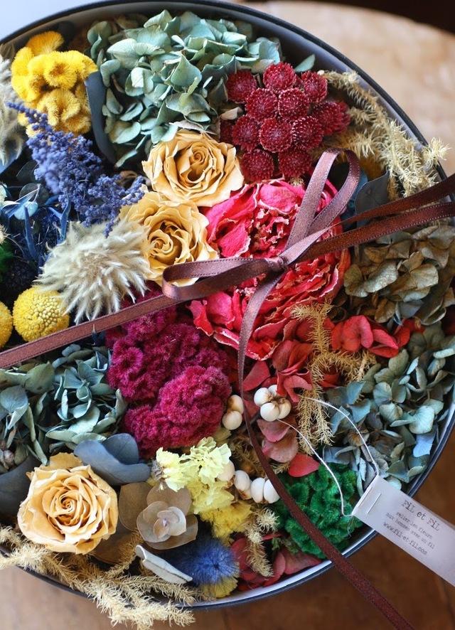 BOX ARRANGEMNT-DRIED FLOWER-Lsize