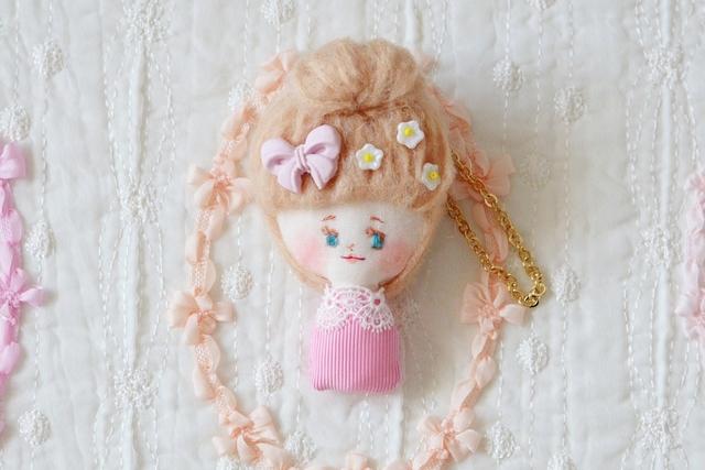 ドールバッグチャーム-cupcake series deep pink