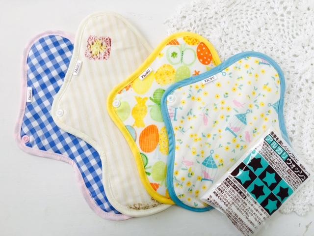 可愛い布ナプキン昼からSET【summer?】