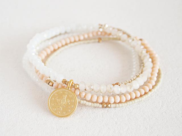 Mix Beads Bunch Bracelet WH