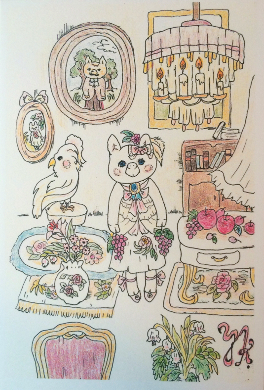 「お屋敷のお嬢さん」ポストカードセット